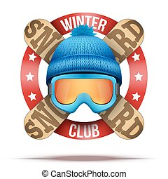 Ski club or team badges and labels - Ski club or team...