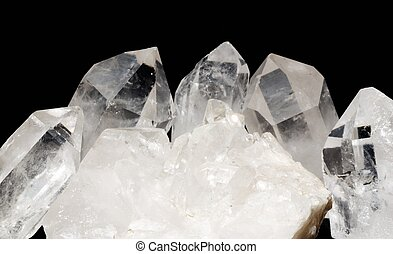 Quartz crystals with druze - Druze of quartz crystals with...