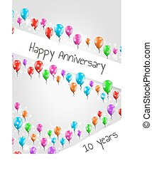 anniversary poster, 10 years - anniversary poster with...