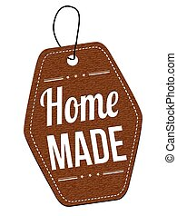 Home made label or price tag - Home made leather label or...
