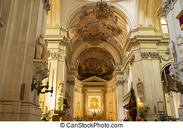 Metropolitan Cathedral of the Assumption of Virgin Mary in Palermo. Sicily, Italy.