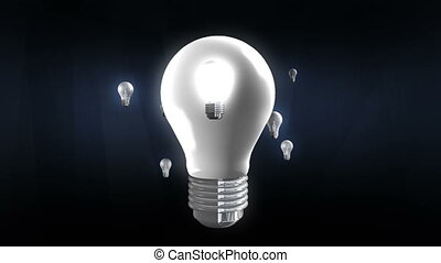 Various bulb light move around bulb lightincluded alpha