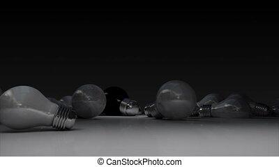 Various bulb light and turn on bulb lightincluded alpha