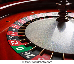 Old Roulette wheel. casino series. studio shot