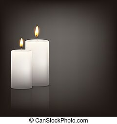 background with two candles