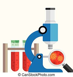 medical research background. - Science research flat design...