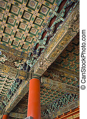 The historical Forbidden City Museum in the center of Beijing.