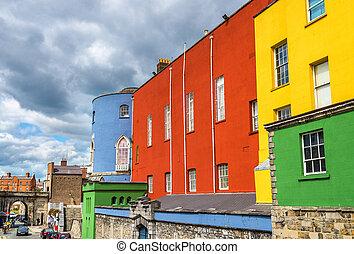 Colourful walls of Dublin Castle - Ireland
