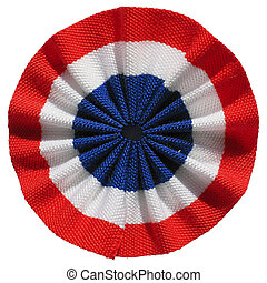 Roundel of France isolated - The French roundel cockade flag...