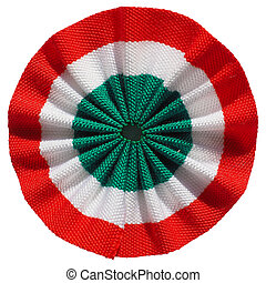 Roundel of Italy - The Italian roundel cockade flag of Italy