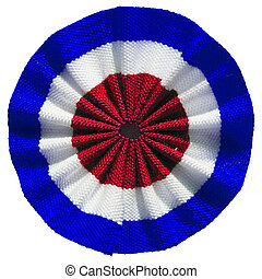 Roundel of UK - The British roundel cockade flag of United...