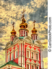 Gateway Church of Transfiguration in Novodevichy Convent -...