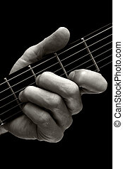 The Tristan chord on guitar higher four strings - The...