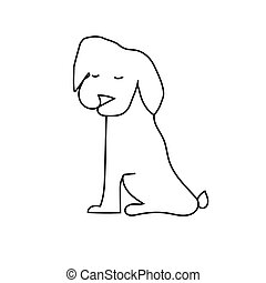 dog vector white illustration animal cute pet face