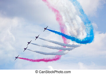 RAF Red Arrows - GILZE RIJEN, THE NETHERLANDS - JUNE 21: RAF...