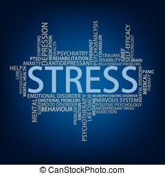 Stress Tag Cloud, vector