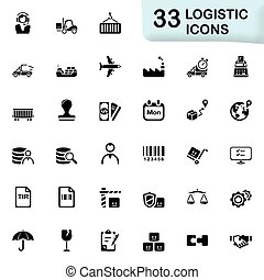 Logistic icons - Logistic vector icons for mobile phone...