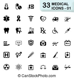 Medical icons - Medical vector icons for mobile phone...