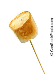 Toasted marshmallow - Golden toasted marshmallow on a wooden...