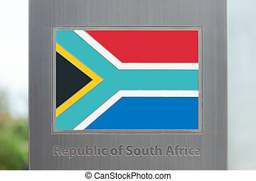 Series of flags on pole - South Africa - Flags on pole...