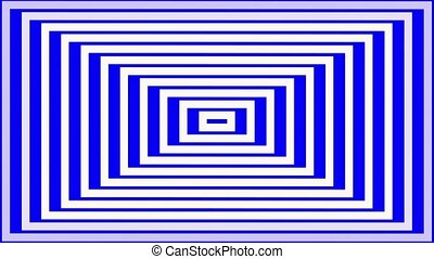 Abstract white square lines on blue