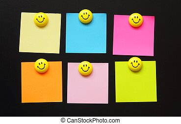blank sheet of paper with smilie or smily