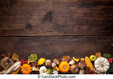 Thanksgiving background - Harvest or Thanksgiving background...