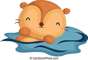 Clip Art Otter Clip Art otter illustrations and stock art 360 illustration swimming clip artby
