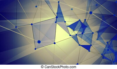 Abstract lines with triangles in blue
