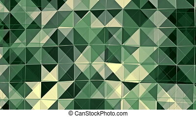 Abstract flashing squares in green