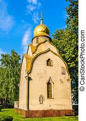 The Prokhorovs' chapel-shrine at Novodevichy Convent - Moscow, Russia