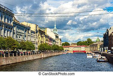 The Moyka River embankment in Saint Petersburg - Russia