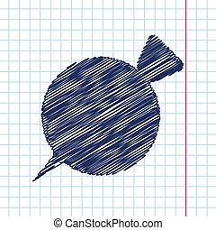beet icon - Vector hand drawn beet icon on copybook