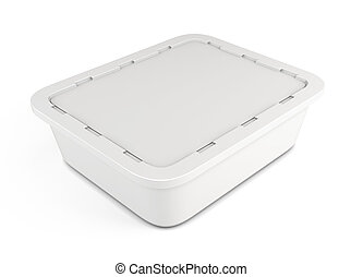Template plastic container for food 3d - Template plastic...