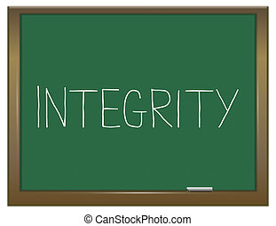 Integrity concept - Illustration depicting a green...