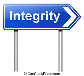 Integrity concept - Illustration depicting a sign with an...