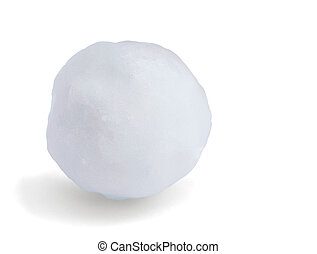 Snowball - Just snowball isolated on white