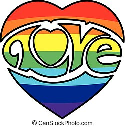 Gay Pride Love Logo