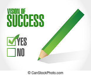 vision of success sign concept illustration