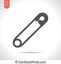 Vector tailor sing - Vector flat black tailor pin icon on...