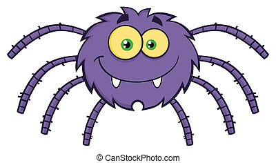 Spider Cartoon Character - Funny Spider Cartoon Character....