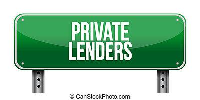 private lenders street road sign concept illustration design...