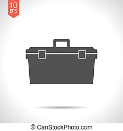 Vector color flat toolkit icon - Vector flat black toolkit...