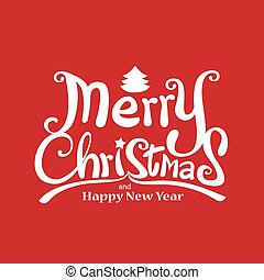 Merry Christmas Vector Calligraphic free hand write on vector illustration eps 10