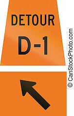 Detour D-1 Keep Left in Canada - Canadian temporary road...