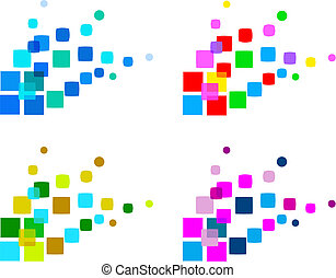 set of abstract design elements, vector