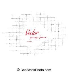 Grunge frame vector illustration