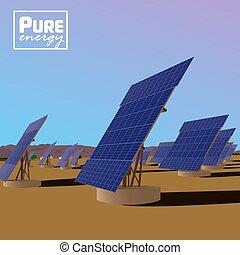 Solar power plant Eco saving technology - Solar power plant...