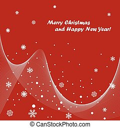 Christmas greetings - Abstract christmas red background with...