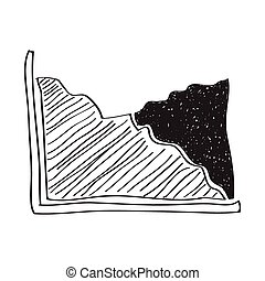 Simple doodle of a graph - Simple hand drawn doodle of a...